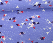 Sommersweat - Triangles 2017 - Lila - Weiß-Glitzer - NIKIKO
