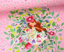 Sommersweat - Paneel - Blütenelfe  - Wildblume - abby and me