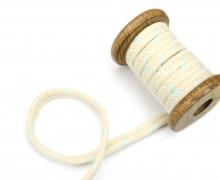 1m Kordel - 10mm - Hoodiekordel - Kapuzenband - Eisblau/Natur