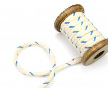 1m Kordel - 10mm - Hoodiekordel - Kapuzenband - Blau/Natur