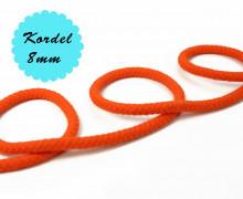 1m Hoodieband - Baumwollkordel - Uni - 8mm - Orange