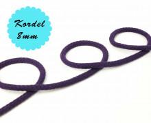 1m Hoodieband - Baumwollkordel - Uni - 8mm - Dunkellila