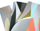 Feste Baumwolle - Dekostoff - Grafische Formen - Linien - Sand/Grau