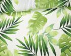 Feste Baumwolle - Dekostoff - Blätter - Palmenblätter - Leafes - Grün/Weiß