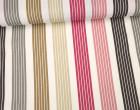 Feste Baumwolle - Dekostoff - Streifen - Stripes - Beere/Rosa/Weiß