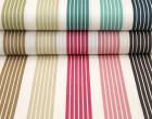 Feste Baumwolle - Dekostoff - Streifen - Stripes - Petrol/Dunkelblau/Weiß