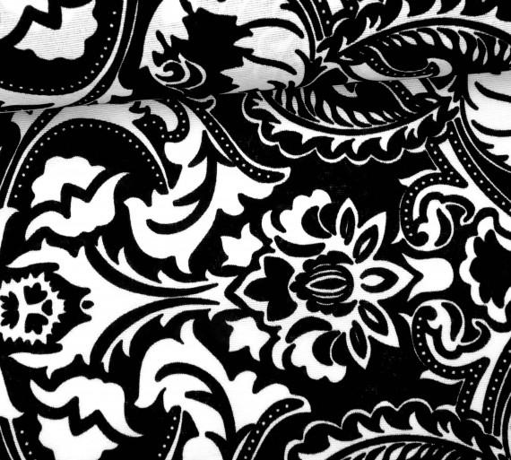 feste baumwolle dekostoff grafisch gro e ornamente schwarz wei. Black Bedroom Furniture Sets. Home Design Ideas