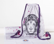 DIY-NÄHSET - Turnbeutel - Lion Sounds - pink - abby and me