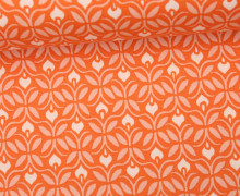 Stoff - Grafische Blumen - Flowers - Voyage - Kate Spain - Orange