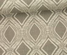 Feste Baumwolle - Dekostoff - Girlanden - Grafisch - Grau