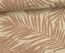 Feste Baumwolle - Dekostoff - Palmenwedel - Blätter - Puder