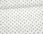 Feste Baumwolle - Dekostoff - Kleine Bäume - Trees - Weiß