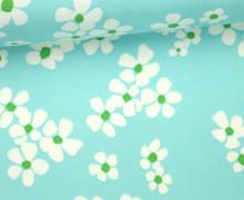 Stoff - Blüten - Flower - Daisy Chain - Annabel Wrigley - Hellblau