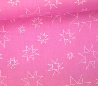 Stoff - Sterne - Linien - Daisy Chain - Annabel Wrigley - Pinkrosa