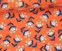 Stoff - Blumen - Retro - Wild Nectar - Crystal Manning - Apricot