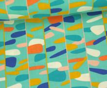 Stoff - Linien - Kleckse - Wild Nectar - Crystal Manning - Mint