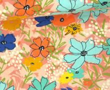 Stoff - Blumen - Floral - Wild Nectar - Crystal Manning - Rosa