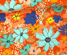 Stoff - Blumen - Floral - Wild Nectar - Crystal Manning - Apricot