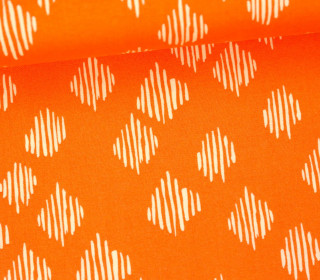 Stoff - Punkte - Gestrichelt - Wild Nectar - Crystal Manning - Apricot