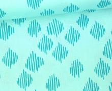 Stoff - Punkte - Gestrichelt - Wild Nectar - Crystal Manning - Mintblau