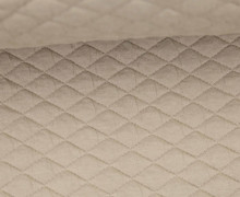 Steppstoff - Rauten - 25mm - Wattiert - Sand