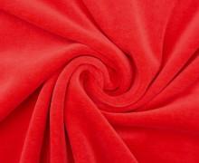 Nicki - Weich - Kuschelstoff - Uni - Rot