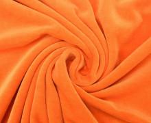 Nicki - Weich - Kuschelstoff - Uni - Hellorange