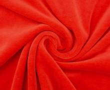 Nicki - Weich - Kuschelstoff - Uni - Erdbeerrot