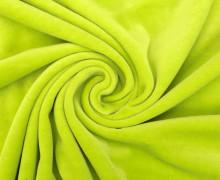 Nicki - Weich - Kuschelstoff - Uni - Gelbgrün