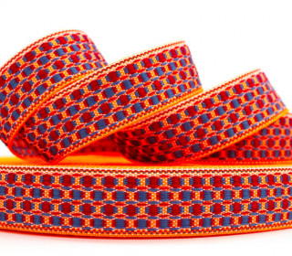 1m weiches Gurtband - Fashion Band - Gewebt - Neonorange