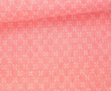 Fashionstoff - Kreuze - Propeller - Gelocht - Rosa