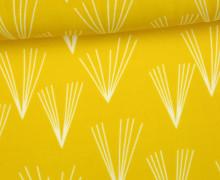 Rayon - Blusenstoff - Fächer - Gelb