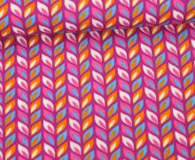 Rayon - Blusenstoff - Buntes Laub - Farbenzauber - Bine Brändle - Lila