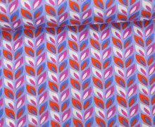 Rayon - Blusenstoff - Buntes Laub - Farbenzauber - Bine Brändle - Flieder