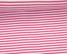 Viskose Jersey - Rippen - Schmale Streifen - 2mm - Pink