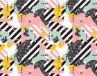 Jersey - 80ies Pattern - Streifen - Muster - bunt