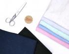 Viskose Jersey - Konfetti - Bunt Meliert - Pastellblau