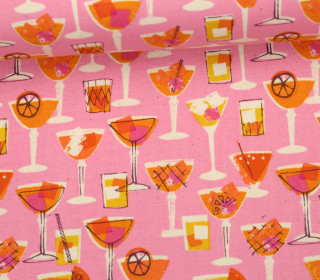 Stoff - Coctails - Poolside - Melody Miller - Rosa