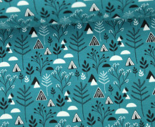 Jersey - Pflanzen - Dreiecke - Plants - Triangles - Meergrün