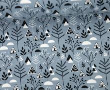 Jersey - Pflanzen - Dreiecke - Plants - Triangles - Hellgrau