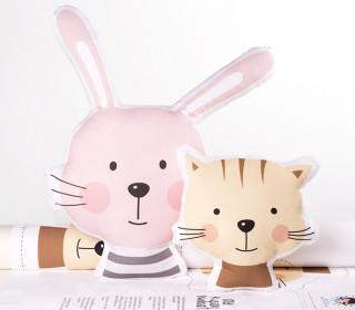 Kissenstoff - DIY - Hase und Katze - süße Tierwelt - abby and me