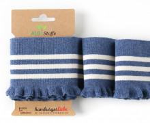 Bio-Bündchen - Frill - Cuff Me - Hamburger Liebe - Jeansblau Meliert