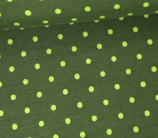 Jersey - Punkte - Dots - 5mm - Color Love - Tannengrün/Grün