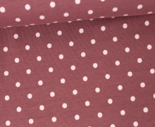Jersey - Punkte - Dots - 5mm - Color Love - Altrosa/Beere