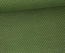 Jersey - Pünktchen - Punkte - Dots - 1mm - Color Love - Tannengrün/Grün