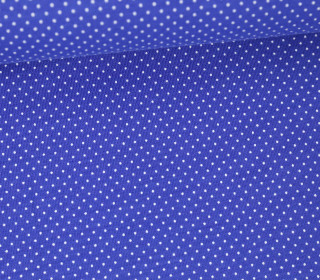Jersey - Pünktchen - Punkte - Dots - 1mm - Color Love - Royalblau/Weiß