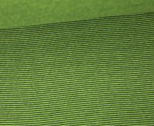 Glattes Bündchen - Streifen - 1mm - Schlauchware - Color Love - Tannengrün/Grün