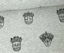 Sommersweat - Masken - Maskerade - Grau meliert