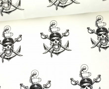 Sommersweat - Totenköpfe - Pirat - Weiß