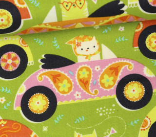 Stoff - Hunde - Katzen - Inspirit - Stacy Peterson - Grasgrün